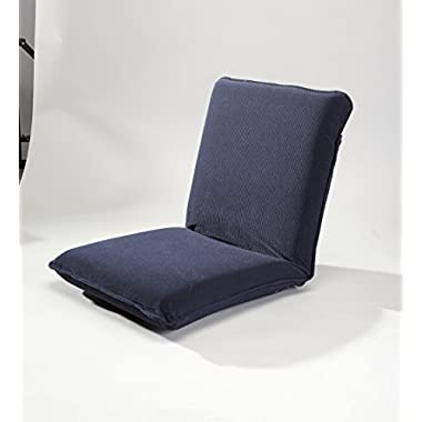 Multiangle Floor Chair with Adjustable Back, in Navy