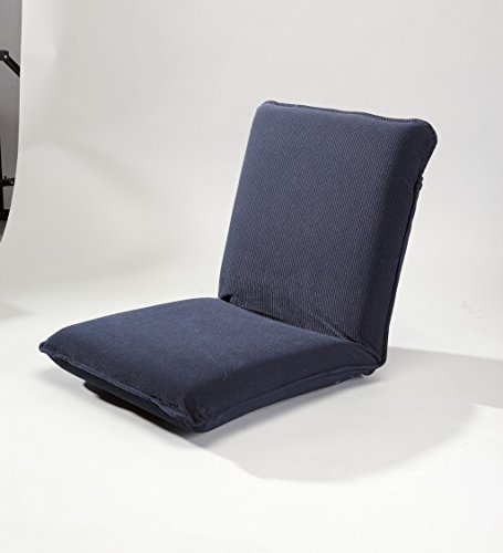 Multiangle floor chair with adjustable back in navy for Floor couch amazon