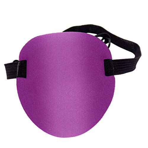 Jiechu Pirate Eye Patch - Pirate Costume Accessory Concave Eye Patch 3D Foam Groove Eyeshade Hot Single Eye Patch for Halloween Party (Purple) -