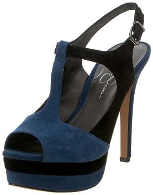 Jessica Simpson Women's Elso Platform Sandal,Twilight Blue Kid Suede,10 M US