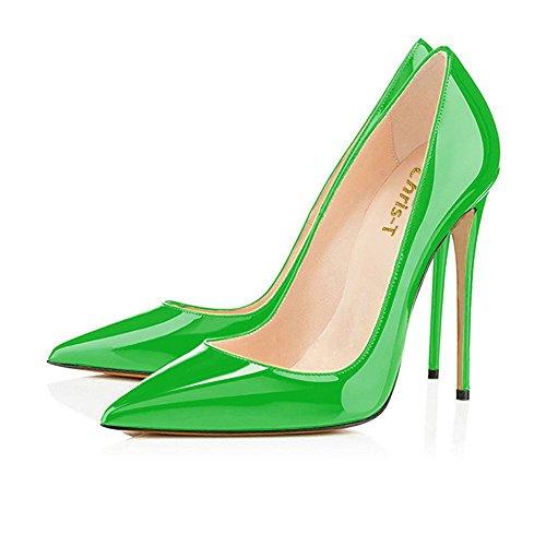 Scarpe Donna Sexy Pompe Punta T Verde su Alto Formale Stiletti baseTacco da Punta Scarpe Sera R0ssa a di Chris Su0la Scivolare 70xYqnC5C