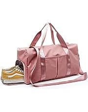 YOYAMALL Bolsa deportiva para el gimnasio, Bolsa de natacion, con compartimiento para zapatos y bolsillo mojado para el baile de yoga.