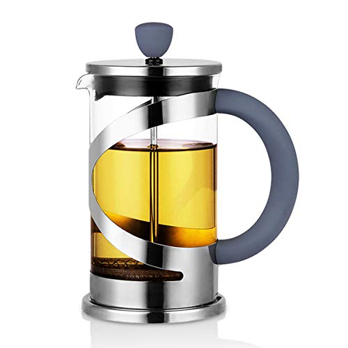 (Large French Press Coffee Tea Maker with Bonus Filter-LIITA Premium Stainless Steel, Thick Durable Heat Resistant Glass Coffee Pot(8 Cup 34 oz))