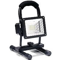 Lanfu Projecteur LED Rechargeable 24Pcs 15W IP65 Lamp de Travail Super Lumineux Floodlight Extérieur Lumière de Chantier Léger Pratique Portable Imperméable Spots Éclairage pour Camping Pêche Nocturne