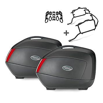 Juego de maletas laterales Set Honda CBF 600 S 04-13 Givi Monokey V35N negro 35 litro, kit adaptador incluida: Amazon.es: Coche y moto