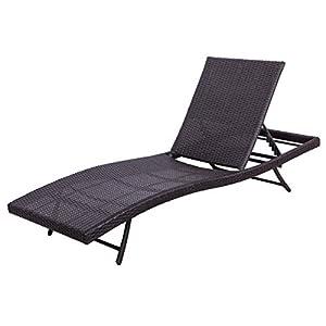 Palm Springs Outdoor Adjustable Rattan Sun Lounger / Garden Reclining Chair  sc 1 st  Amazon.com & Amazon.com : Palm Springs Outdoor Adjustable Rattan Sun Lounger ... islam-shia.org