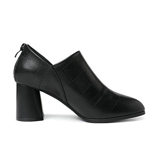 Vestir Mujer JRenok Otra de de Zapatos Piel negro UnnWHqv