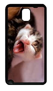 covers kitty yawn TPU Black case/cover for samsung galaxy note 3 N9000