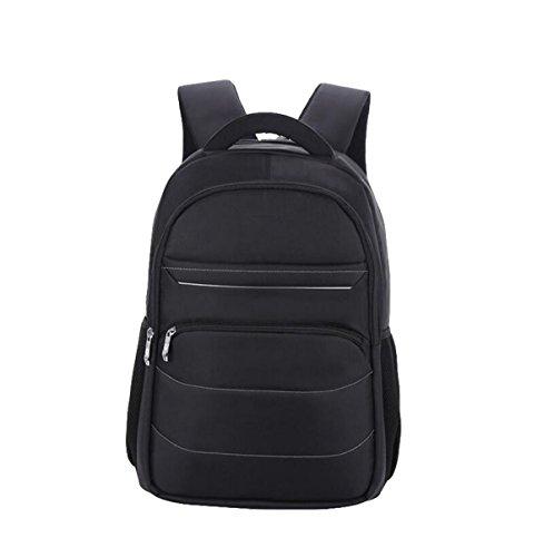 Bolsa De Hombro Bolsa De Estudiante Impermeable Bolsa De Ordenador Bolso De Viaje Hombres Mochila Multi-uso Cómodo Multi-color Black