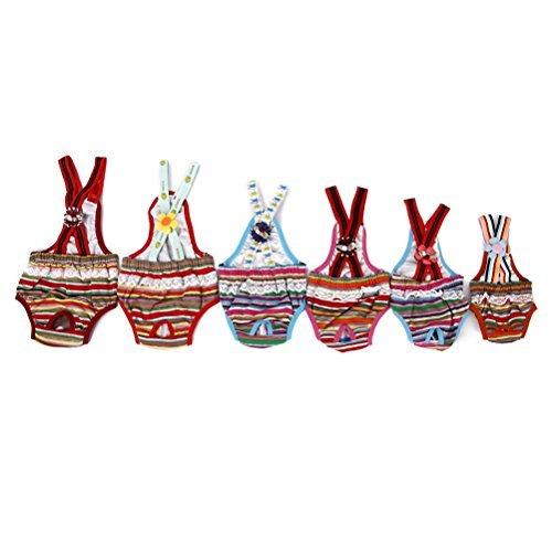 WINOMO Female Dog Suspender Sanitary Pants Diaper - Size XS (Random (Menstrual Pad Costume)