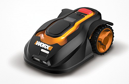 WORX WG794 Landroid Pre-Programmed Robotic Lawn Mower with the help of Rain Sensor and safety Shut-off fine Price