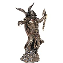 Zeus Holding Thunderbolt With Eagle, Cold Cast Bronze,11.5 Inch Tall