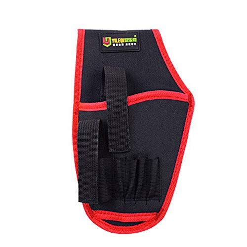 Glumes Drill Holster, Glumes Waterproof Impact Driver Drill Holder, Multi-functional Electric Tool Pouch Bag with Waist Belt for Wrench, Hammer, Screwdriver, Fits Most T Handle Drills by Glumes (Image #3)