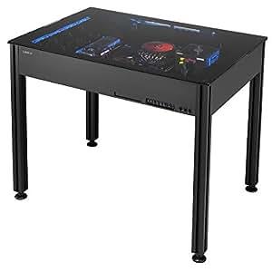 Lian-Li Case DK-Q2X 2.5/3.5inch HDD ATX/MicroATX/EATX Aluminum Computer Desk Black Retail