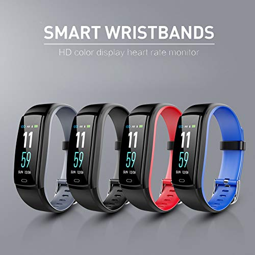 BASLO Fitness Tracker, Heart Rate Monitor Watch, Activity Tracker Pedometer with Calorie Sleep Monitor Call SMS Sedentary Reminder with 0.96 LED for Kids Women Men