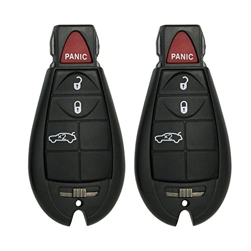 Keyless2Go New Replacement Shell Case and 4 Button Pad for Remote Key Fobiks with FCC M3N5WY783X - SHELL ONLY (2 Pack)