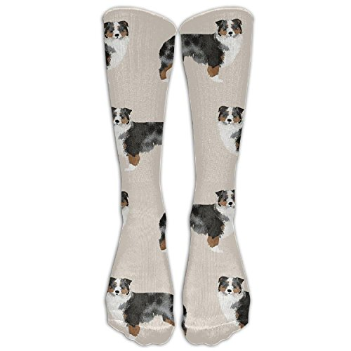 AWENGESS Australian Shepherd Womens Pattern Over The Knee High Socks Long Socks