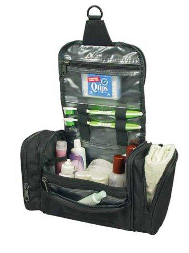 Deluxe Travel Kit Organizer w/ Hanging Hook (Hygiene Bag)