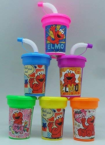 Elmo Party Cups 6 pack Sipper Favor Cups]()