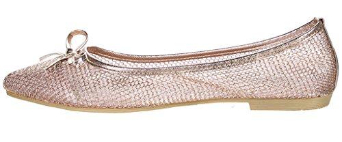 Bella Marie Bellamarie Angie-28 Femmes Chaussures À Talons Pointus Orteils Classiques Or Rose