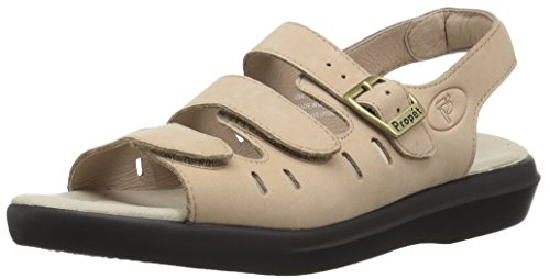 (Propet Women's W0001 Breeze Walker Sandal,Dusty Taupe Nubuck,9 XX (US Women's 9 EEEE))