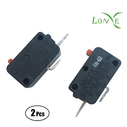 LONYE (Pack of 2) SZM-V16-FA-63 Microwave Oven Door Micro Switch for LG, GE, Starion Microwave Oven SZM-V16-FD-63(Normally (Microswitch Door)