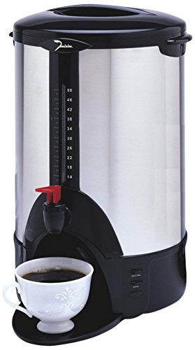 Dominion DK50 50-Cup 1000W Urn, Stainless Steel