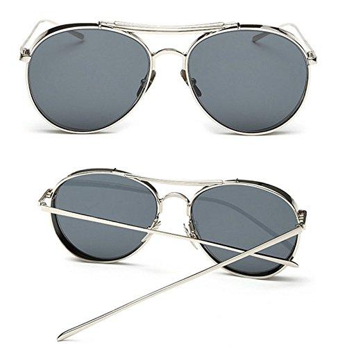 212797ace5 RAQ Hombre Señora Gafas de sol Moda Metal Grueso Edge Ringlass Gafas de sol  Vanguardista Ojo