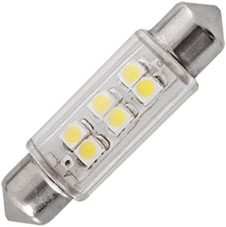 White Quaant LED Car Light Super drop ship New car styling 5PC Superled 39mm SMD 6 LED Car Festoon Bulbs White 12V 3W mar28 p30