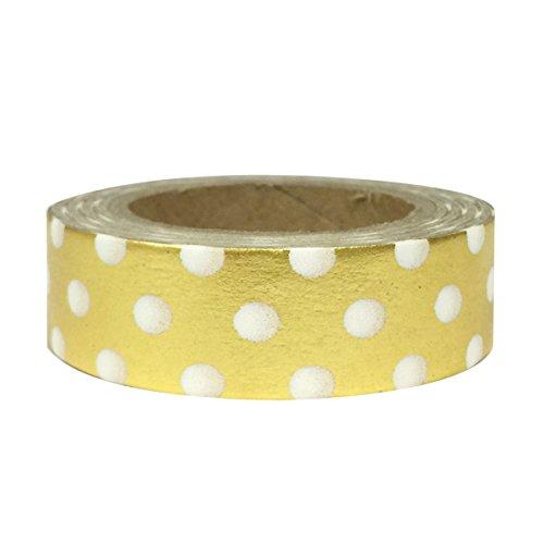Shiny Large Dots (Allydrew Washi Tapes Decorative Masking Tapes, Shiny Large Gold Dots)