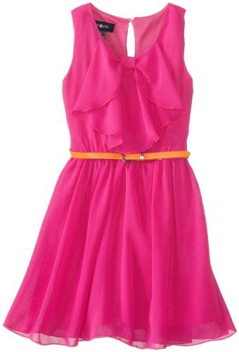 Amy Byer Girls 7-16 Ruffle Shirred High Low Dress