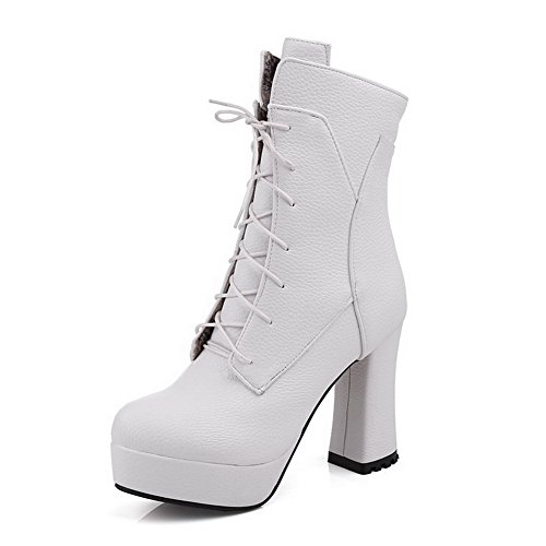 Women's Closed Toe Blend Materials Solid Boots with Adornment