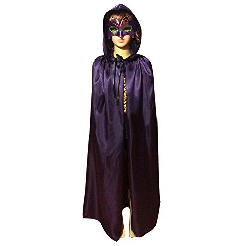 WESTLINK Kids Cloak with Hood Costume Hooded Cape Purple ()