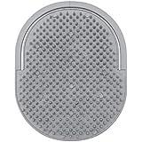 Escova Oval Masculina, Ricca, Cinza