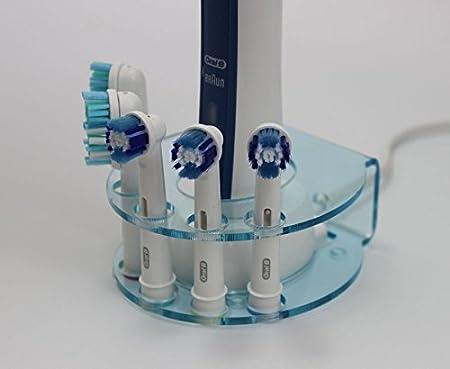 varios colores Soporte para 5 cabezales de cepillo de dientes el/éctrico