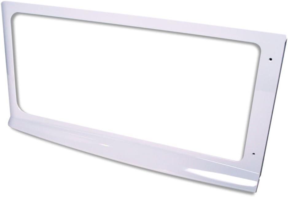 Whirlpool 8169572 Microwave Door Outer Frame (White) Genuine Original Equipment Manufacturer (OEM) Part White
