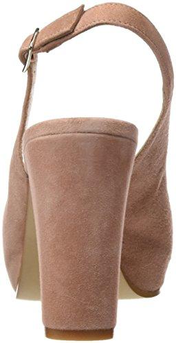 Gadea 40678, Zapatos de Tacón con Punta Abierta para Mujer Rosa (Ante Rubor)
