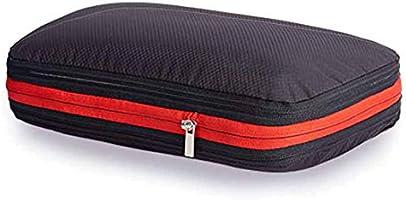 圧縮バッグ トラベルポーチ ファスナー圧縮 最大50%スペース節約可能 衣類仕分け(綺麗&汚れた衣類)軽量 防水 旅行/出張/整理用に最適