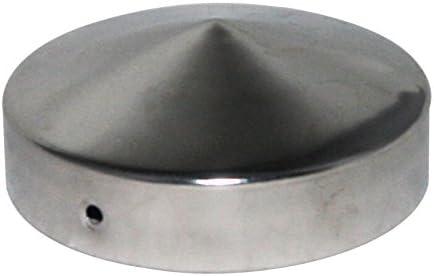 Pfostenkappe Pfostenabdeckung Edelstahl VA für Halbrunde Pfosten inkl.Schraube