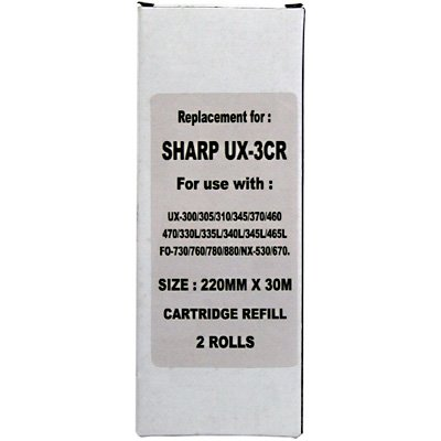 TREND Compatible Made in the USA for Sharp FO-3CR/ UX-3CR (FO3CR/ UX3CR) Imaging Film Cartridge 2 Rolls (100 pages) for UX-300, UX-305, UX-330L, UX-340L, UX-345L, UX-355L, UX-460, UX-465 Printers