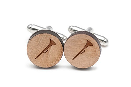 Wooden Accessories Company Vuvuzela Cufflinks, Wood Cufflinks Hand Made in The USA