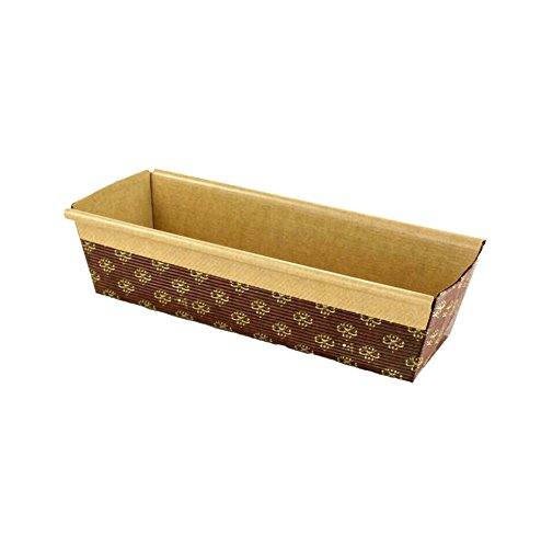 Rectangular Paper Loaf Pan Molds Large Size - 9''x2 7/8''x2.5'' - 25pcs by Pastry Chef's Boutique