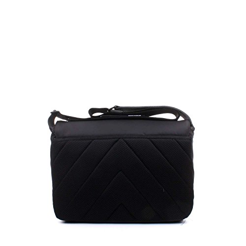 Matthew Messenger Bag With Flap - Black