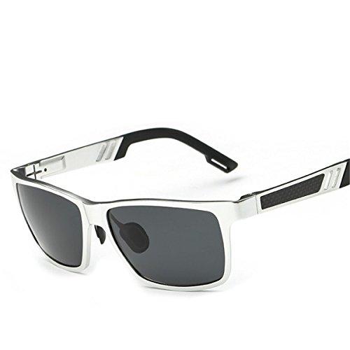 Sol Marco Deportes Pesca de Negro Black Sol Negro al polarizadas Gafas Libre Hombres Ceniza de Conducir Aire Gafas de KOMNY Gafas Ash waEYqFP