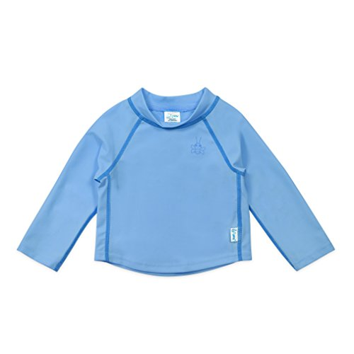 Play Trunk I - i play. Long Sleeve Rashguard Shirt | All-day UPF 50+ sun protection-wet or dry,Light Blue Classic,24 months