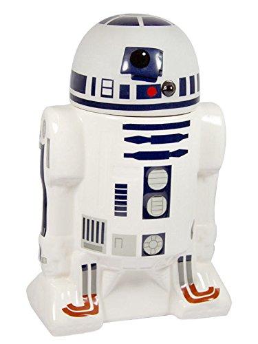 Star Wars R2 D2 3D Keksdose mit Deckel Lizenzware weiss blau