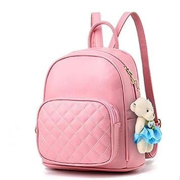4c63b4083 RMXMY Personalidad Creativa Mochila Dama Linda Bolsa de Viaje multifunción  práctica Simple Moda Tendencia Casual Bandolera Salvaje (Color : Pink): ...