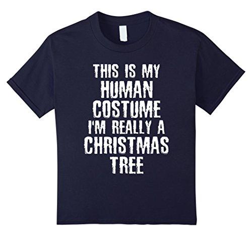 The King And I Costume Ideas (Kids Human Costume I'm Really A Christmas Tree Halloween T-shirt 12 Navy)