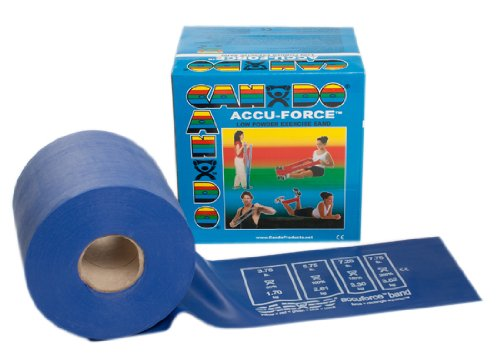 Cando Accu-Force Band Low Powder 50 yds Heavy Blue for rehabilitation, conditioning & training