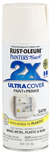 - Rust-Oleum 249843-6 PK Painter's Touch 2X Ultra Cover, 12 oz, Blossom White